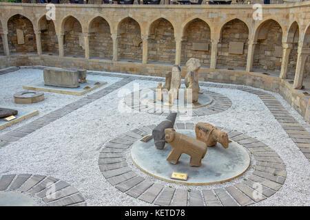 Lapidarium in old city, Baku, Azerbaijan - Stock Photo