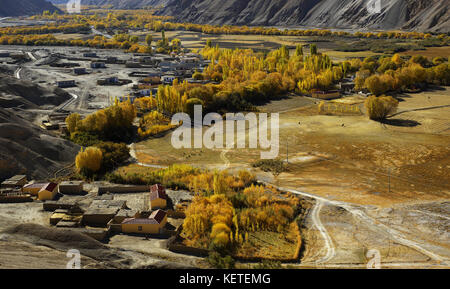 Rakatan Village of the Xinjiang Uygur Autonomous Region,China - Stock Photo