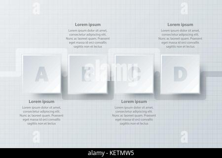 timeline infographic icon simple style stock vector art timeline infographic icon white acircmiddot four topics simple white paper 3d square on timeline for website presentation cover poster vector design