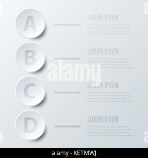 four topics of simple white d paper balloon circle time line four topics simple white 3d paper circle for website presentation cover poster vector design infographic illustration