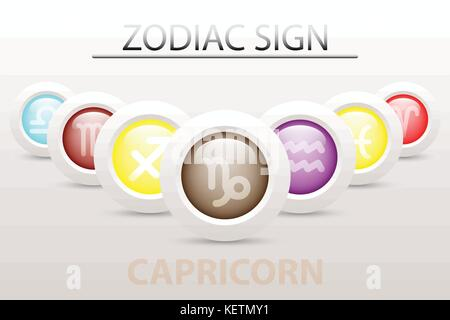 Gemini Icon Symbol 3d Style Trendy Modern Design With Space For