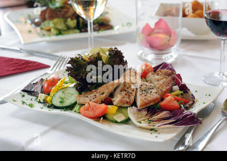 dish in a fine restaurant - Stock Photo