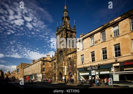 Historic Edinburgh, Scotland  Augustine United Church on George IV Bridge a  Category B listed building - Stock Photo