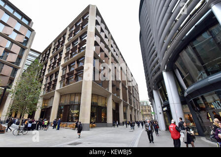 London, UK. 24th Oct, 2017. Bloomberg's new European headquarters is opened in the City of London, designed by Foster - Stock Photo