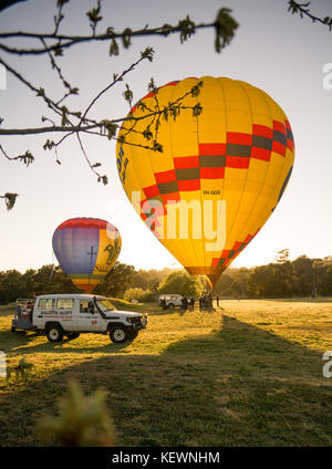 Hot-Air Ballooning in Canberra - Stock Photo
