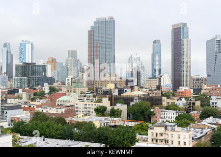 Residential development in Downtown Brooklyn and the surrounding areas in New York on Saturday, October 14, 2017. - Stock Photo