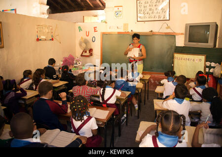 classroom in elementary school in Old Trinidad; Trinidad; Cuba; Caribbean - Stock Photo