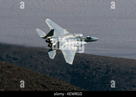 United States Air Force McDonnell-Douglas F-15C Eagle (80-048) from the 144th Fighter Wing based at Fresno International - Stock Photo