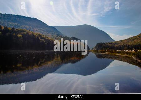 Saco Lake, looking south, Crawford Notch, Caroll, New Hampshire, USA - Stock Photo