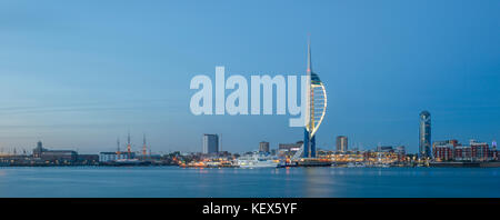 The Spinnaker Tower in Portsmouth. - Stock Photo