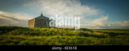 St Aldhelm's Chapel near Swanage in Dorset. - Stock Photo
