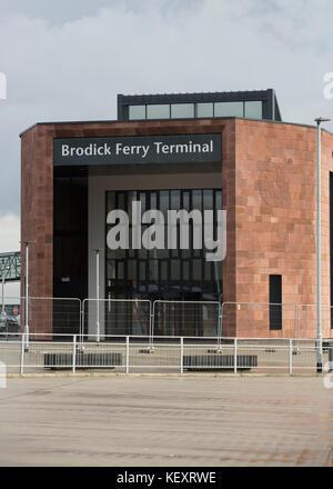 Brodick Ferry Terminal on Isle of Arran - Stock Photo