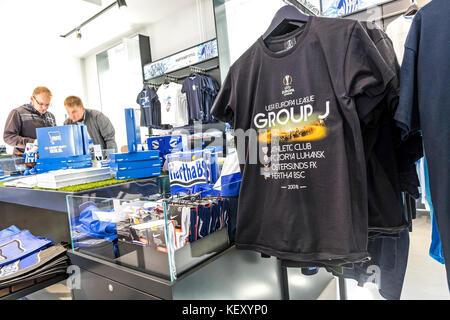 Hertha BSC Fanshop on Hanns-Braun-Strasse in Berlin - Stock Photo