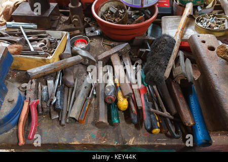 Tools in old workshop - Stock Photo