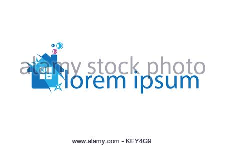 Visual identity for cleaning firms - Stock Photo