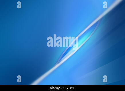 Abstract simple blue desktop background with  diagonal white curves. - Stock Photo