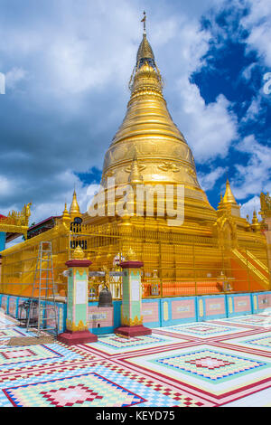 Sagaing hill Pagoda in Myanmar - Stock Photo
