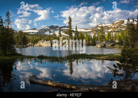 Upper Velma Lake, Desolation Wilderness, California - Stock Photo
