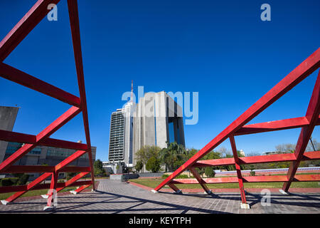 January 16, 2016 Monterrey, Mexico: modern architecture in the business centre of the city - Stock Photo