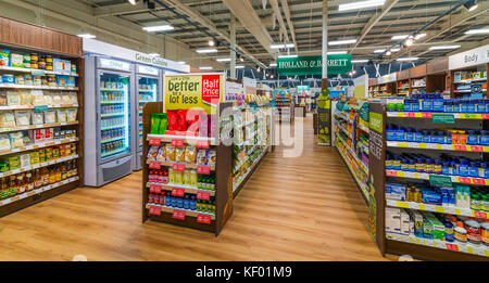 Holland and Barrett health food store in a Tesco Supermarket