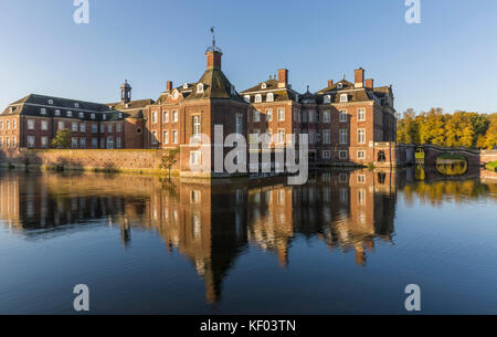 Nordkirchen moated castle in Germany, known as the Versailles of Westphalia - Stock Photo