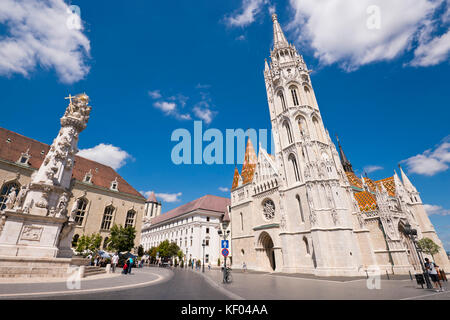 Horizontal view of Matthias Church in Budapest. - Stock Photo