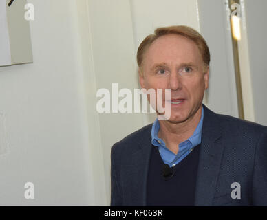 Frankfurt, Germany. 12th Oct. 2017. Dan Brown (* 1964) presents his newest book 'Origin', the latest part in the - Stock Photo