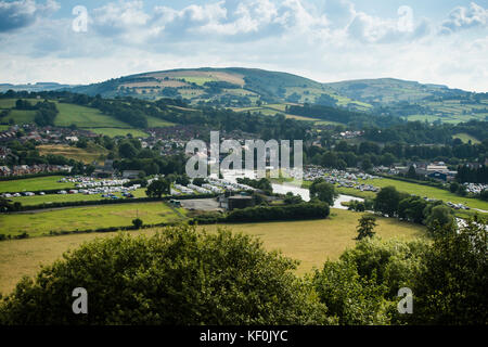 General view of the Royal Welsh Agricultural Show, the largest annual event in the UK  farming calander, Builth - Stock Photo