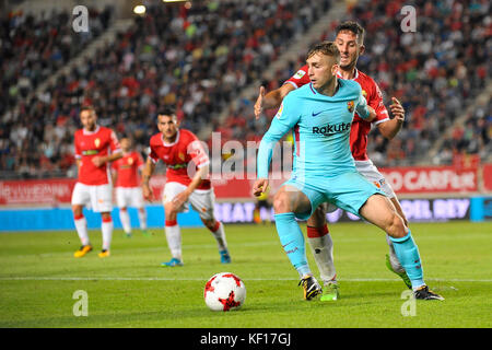 Murcia, Spain. 24th Oct, 2017. Deulofeu during the match between Real Murcia vs. FC Barcelona, COpa del Rey 2017/18 - Stock Photo