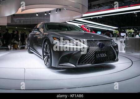Lexus presents its new concept cars at 45th Tokyo Motor Show. Credit: Yuichiro Tashiro /Alamy Live News - Stock Photo