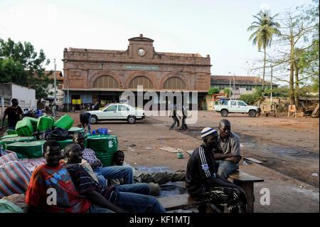 MALI, Bamako , old railway station from french colonial time, railway line Dakar–Niger connecting Dakar in Senegal - Stock Photo