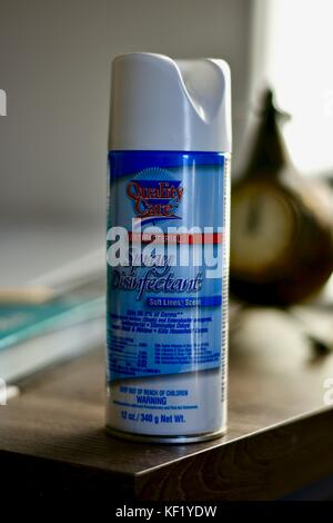 Quality care generic disinfectant spray - Stock Photo