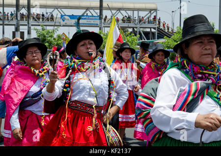 Ayacucho carnival parade / Carnaval Ayacuchano (pasacalle). - Stock Photo