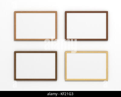 Different sizes of picture frames on the wall illustration Stock ...