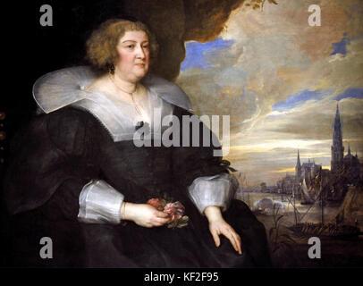 Marie de Médicis reine de France - Mary de Medici Queen of France 1609 by Sir Anthony van Dyck 1599 - 1641 was a - Stock Photo