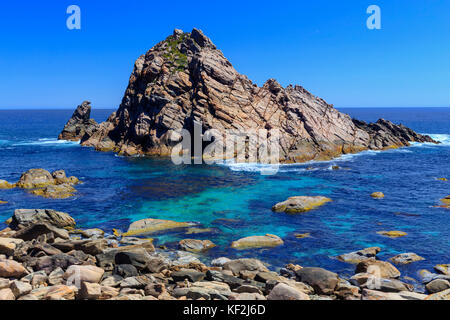 Sugarloaf Rock in Leeuwin Naturaliste National Park. Western Australia - Stock Photo