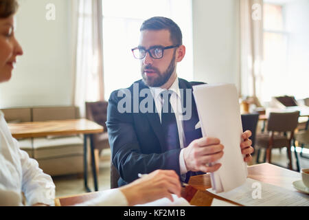 Having Productive Project Discussion - Stock Photo