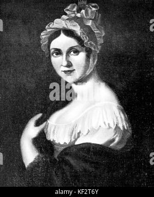Richard Wagner 's mother Johanna Rosine (formerly Bertz) . RW:German composer & author, 1813-1883 - Stock Photo