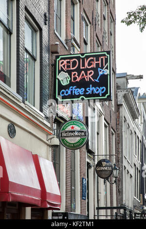 The red light district in Amsterdam, Netherlands - Stock Photo