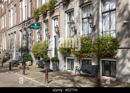 The  Prinsengracht hotel, Amsterdam, Netherlands - Stock Photo