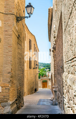 Streets from medieval city of Toledo Castilla la Mancha Spain - Stock Photo