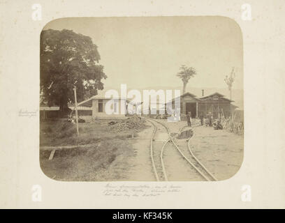 Spoorwegstation Kraton te Kota Radja, het huidige Banda Aceh, anoniem, 1870   1900   Rijksmuseum - Stock Photo