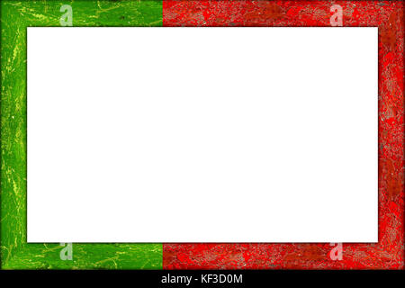 empty wooden picture or blackboard frame in portugal portuguese flag design isolated on white background - Stock Photo