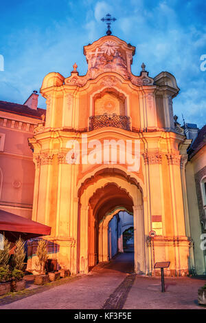 Vilnius, Lithuania: Basilian Gate of Church and Monastery of Holy Trinity - Stock Photo