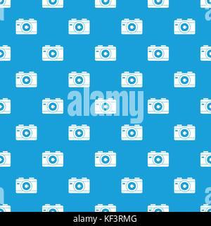 Photo camera pattern seamless blue - Stock Photo