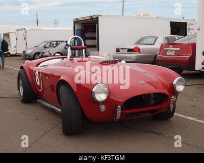 Original 1963 Shelby Cobra competition car as raced by the late Mike Stott of Ho-Ho-Kus, New Jersey. The car, auctioned - Stock Photo