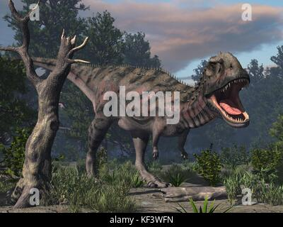 original 3d render of dinosaur - Stock Photo