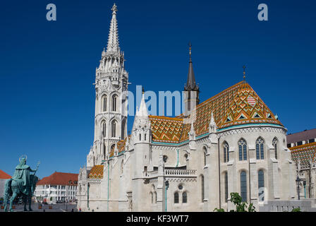 Matyas Church Castle District Upper Buda Budapest Hungary - Stock Photo