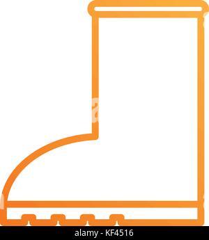rubber boot rain seasonal icon style on white background - Stock Photo