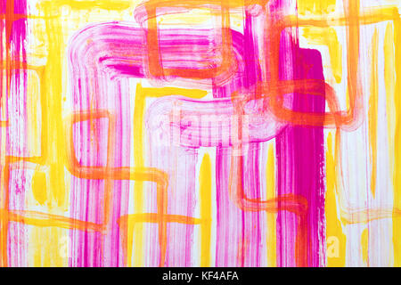 Abstract art background. Oil painting on canvas. Green and yellow texture. Fragment of artwork. Spots of oil paint. Brushstrokes of paint. Modern art. Contemporary art